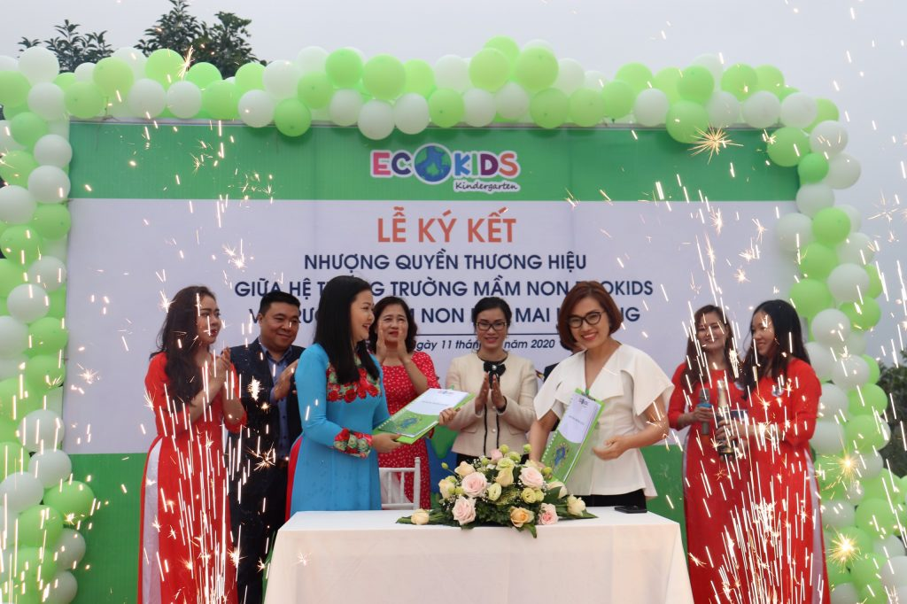 The signing ceremony of franchising the Ecokids kindergarten system in Ha Long, Quang Ninh