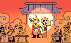 Google honors Vietnamese opera, cai luong, on homepage